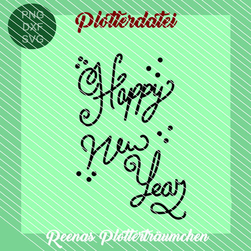 Plottervorlage: Happy New Year